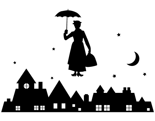 Mary Poppins Chimney Sweep Silhouette Images Black An D White Mary ...
