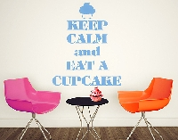 WandTattoo No.EV71 Keep Calm And Eat A Cupcake