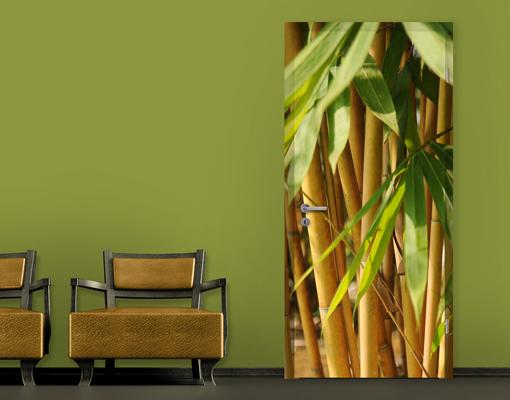 fototapete t r selbstklebend sunny bamboo foto tapeten. Black Bedroom Furniture Sets. Home Design Ideas