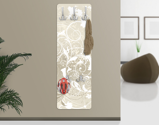 design garderobe perlmutt ornament design wand haken flur. Black Bedroom Furniture Sets. Home Design Ideas