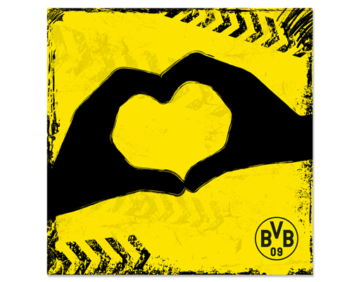 hartschaum bild borussia dortmund graffiti gelb bvb fu ball verein fan logo bilder. Black Bedroom Furniture Sets. Home Design Ideas