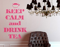 WandTattoo No.EV70 Keep Calm And Drink Tea