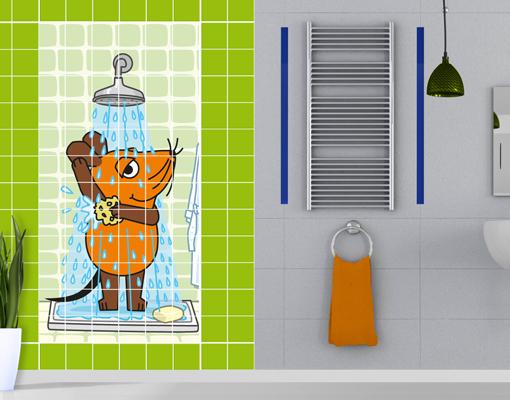 Fliesenbild Die Maus - Duschen Kinderzimmer Serie Wdr Abenteuer | Ebay Fliesenbilder Fr Dusche