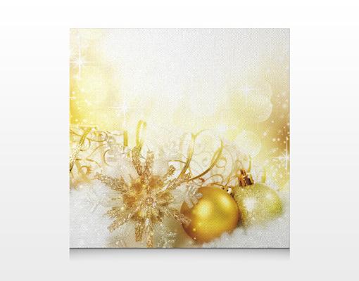 leinwandbild christmas magic 70x70cm leinwanddruck rahmen design weihnachten schmuck. Black Bedroom Furniture Sets. Home Design Ideas