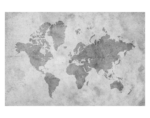 fensterbild vintage weltkarte ii erde kontinente landkarte pergament atlas ebay. Black Bedroom Furniture Sets. Home Design Ideas