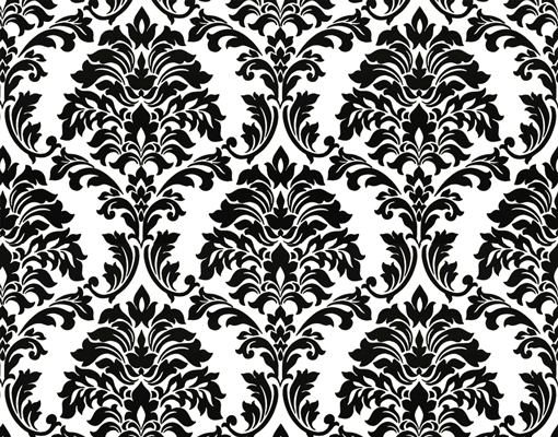 fototapete barockmuster in schwarz weiss 212x250cm art deco ornamente blumen ranken. Black Bedroom Furniture Sets. Home Design Ideas