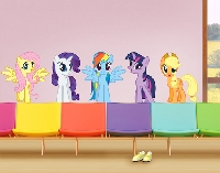 WandTattoo No.701 My little Pony - Fünf Freunde Set 170x41cm