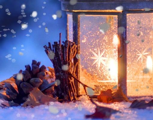 leinwand bild bilder winterromantik 70x70 winter schnee. Black Bedroom Furniture Sets. Home Design Ideas