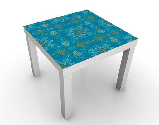 design tisch orientalisches ornament t rkis 55x45x55 beistelltisch couchtisch ebay. Black Bedroom Furniture Sets. Home Design Ideas