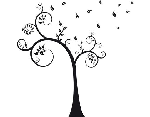 Glasdekor no ca25 herbstbaum bl tter ste sturm schn rkel for Fliesenaufkleber ornamente