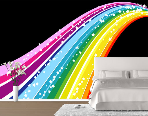 vlies fototapete tapete rainbow foto tapeten vliestapete. Black Bedroom Furniture Sets. Home Design Ideas