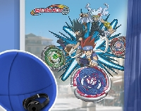 FensterSticker Beyblade - Metal Fury Gingka Kyoya Ryuga