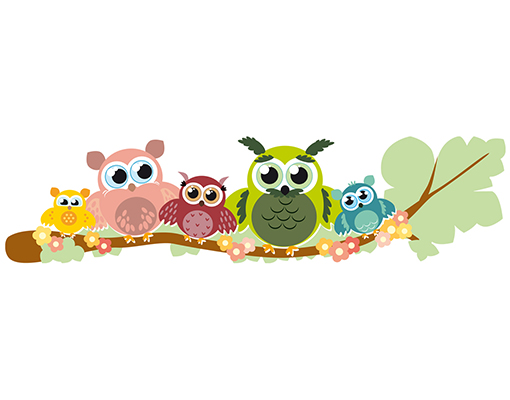 Kinderzimmer Motive | Wandtattoo Top 6 Motive Kinderzimmer Eule Safari Frosch Dschungel