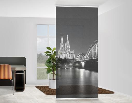 Design Raumteiler Köln Bei Nacht II Schiebe Vorhang