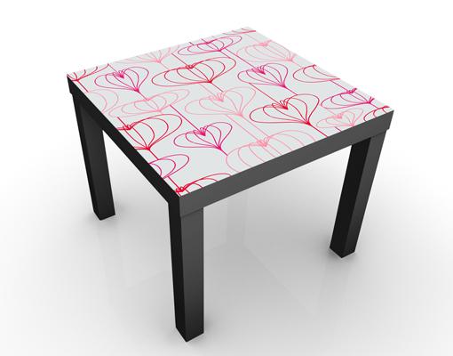 Design Tisch Herz Muster 55x45x55cm Beistelltisch