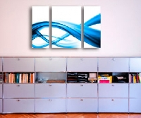 LeinwandBild Blue Element Triptychon II