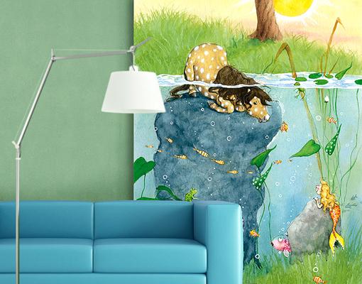 kinderzimmer fototapete wald bibkunstschuur. Black Bedroom Furniture Sets. Home Design Ideas