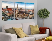LeinwandBild City of Munich Triptychon I