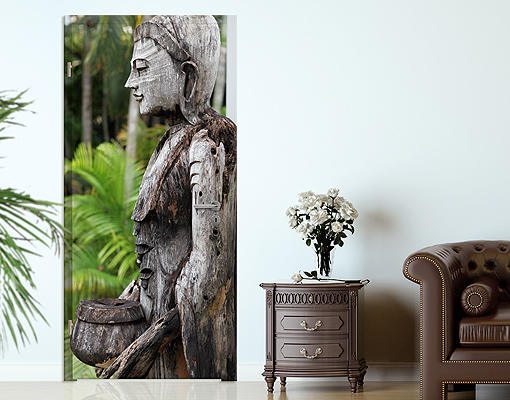 Door photo wall mural indonesia buddha wallpaper motif for Mural indonesia