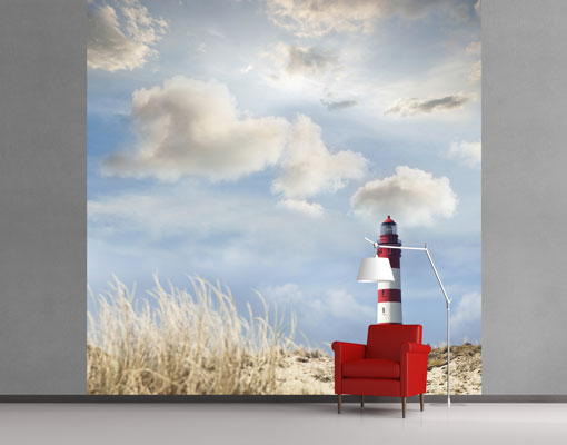 vlies fototapete tapete leuchtturm in den d nen strand. Black Bedroom Furniture Sets. Home Design Ideas