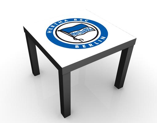 Design Tisch Hertha BSC® Fahne Strahlen 55x45x55cm