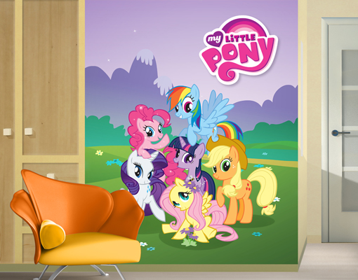pics photos my little pony wallpaper mural roommates 72 in x 126 in my little pony cloud xl chair