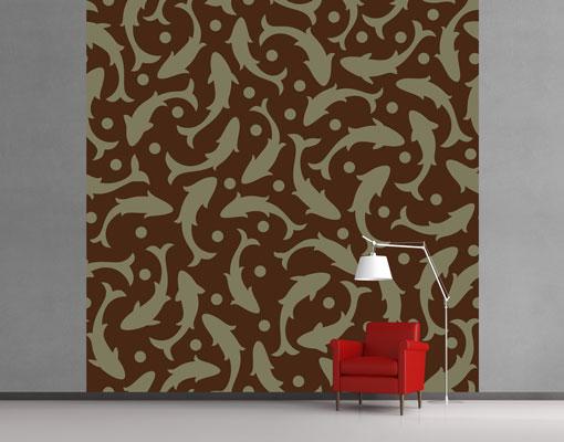 vlies fototapete tapete fischschwarm foto tapeten vliestapete abstrakt fische ebay. Black Bedroom Furniture Sets. Home Design Ideas