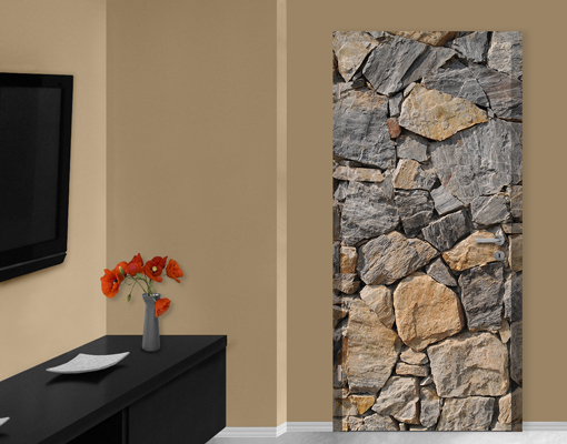fototapete t r selbstklebend granitic wall foto tapeten steine w nde felsen ebay. Black Bedroom Furniture Sets. Home Design Ideas