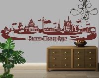 WandTattoo No.JR39 Sankt Petersburg russisch Skyline