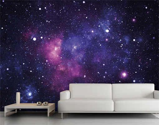 Wallpaper | Wall Art | Decor | Universe | Space | Violet | Purple | Star