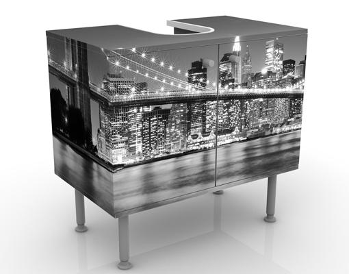 design waschtisch nighttime manhattan bridge ii waschbecken unterschrank bad ebay. Black Bedroom Furniture Sets. Home Design Ideas