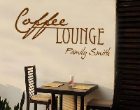 WandTattoo No.CA27 WunschText Coffee Lounge