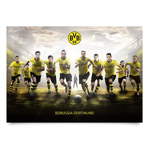 Wandbild No 14 Borussia Dortmund Mit Vollgas Zum Sieg Xxl Poster Bvb Fussball Ebay