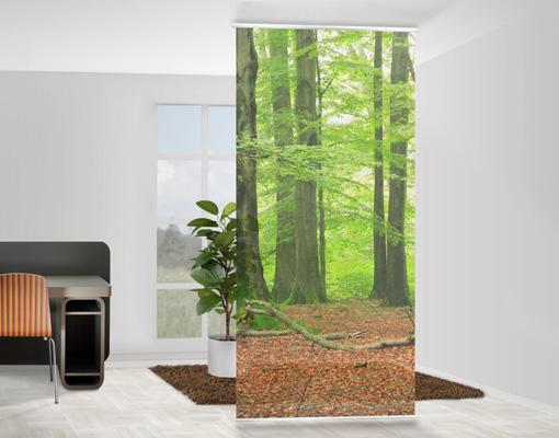 design raumteiler mighty beech trees schiebe vorhang gardine fl chenvorhang ebay. Black Bedroom Furniture Sets. Home Design Ideas