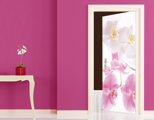 fototapete t r graceful orchids 100x210 foto tapeten. Black Bedroom Furniture Sets. Home Design Ideas