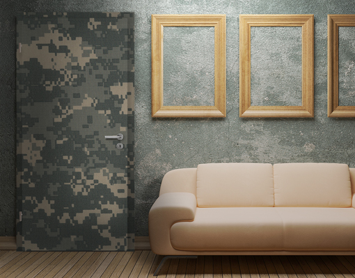 Door photo wall mural camouflage wallpaper wall art wall for Camouflage wall mural