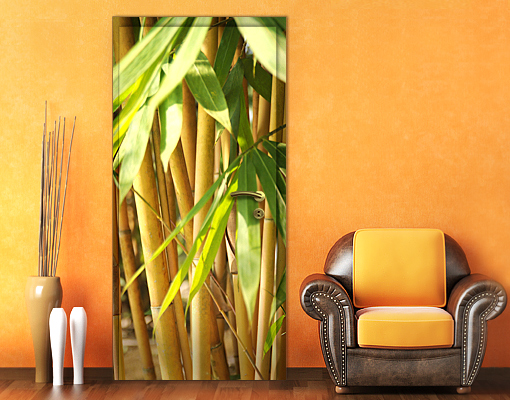 Details zu fototapete tür selbstklebend sunny bamboo tapete bambus