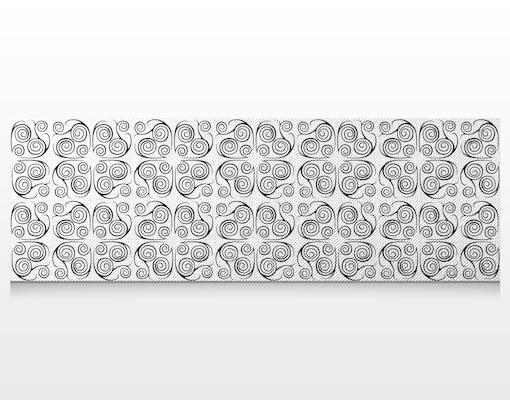leinwandbild spiralen ornament schwarzwei panorama leinwanddruck rahmen gro panorama. Black Bedroom Furniture Sets. Home Design Ideas