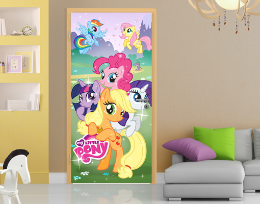 Photo Wall Mural Door MY LITTLE PONY 100x210 Children Room Kids Part 35