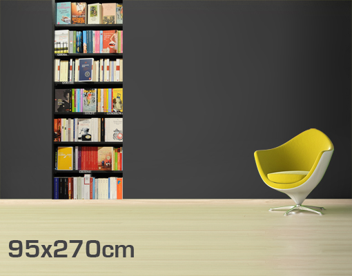 papier peint intiss book lover fond d 39 cran livres armoire tag re lecture ebay. Black Bedroom Furniture Sets. Home Design Ideas