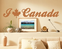 WandTattoo No.EK158 I Love Canada