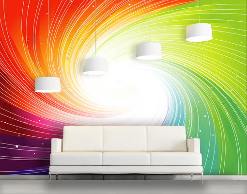 Photo wall mural sparkling colours 400x280 3d digital for Digital print wallpaper mural