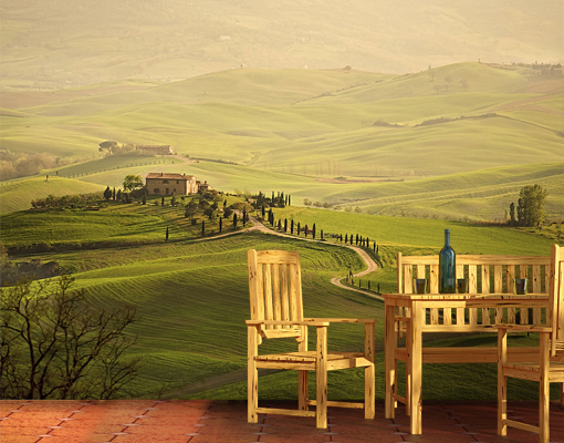 fototapete chianti toskana tapete landschaft italien. Black Bedroom Furniture Sets. Home Design Ideas