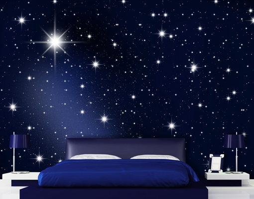 Photo wall mural stars 400x280 wallpaper wall art wall decor universe galaxy sky ebay - Stars for walls decorating ...