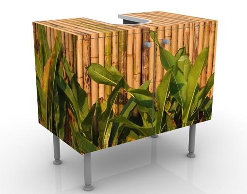 design waschtisch bamboo wall waschbecken unterschrank bad m bel bambus gr ser ebay. Black Bedroom Furniture Sets. Home Design Ideas