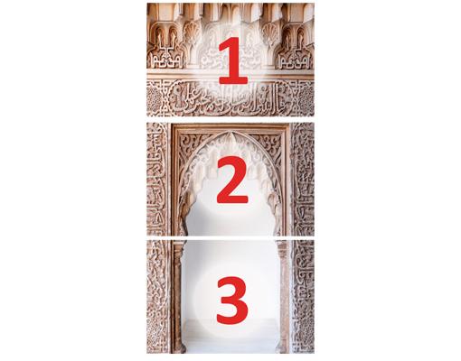 Papier peint pour porte wall of ornaments 100x210 mur for Papier peint sur porte