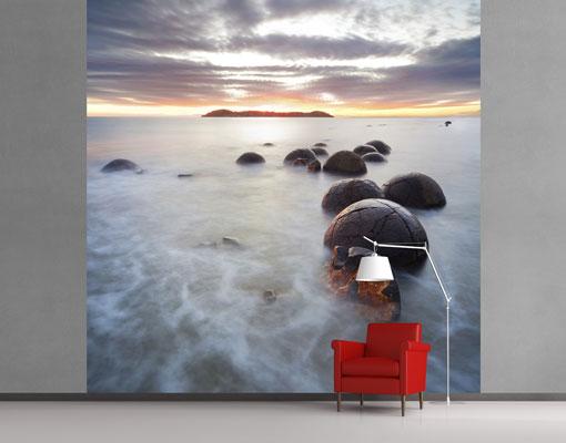 vlies fototapete moeraki neuseeland foto tapeten. Black Bedroom Furniture Sets. Home Design Ideas