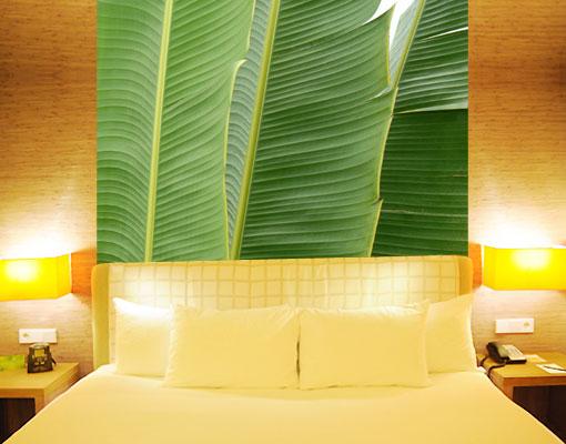 Das Bild Wird Geladen Fleece Wall Mural Banana Leaves Wallpaper Art