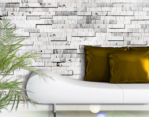 fototapete birkenrinde tapete birke baum natur busch mauer. Black Bedroom Furniture Sets. Home Design Ideas