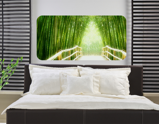 wandbild bamboo way wandtattoo bambus gr n br cke natur. Black Bedroom Furniture Sets. Home Design Ideas